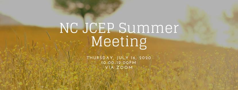 NC JCEP summer meeting flyer